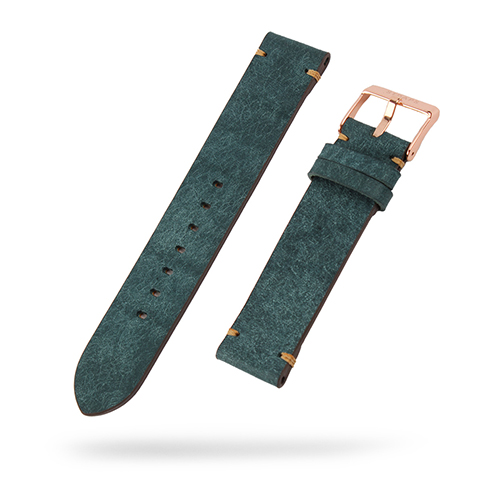 [STRAPS]<br>Leather Band Teal Blue