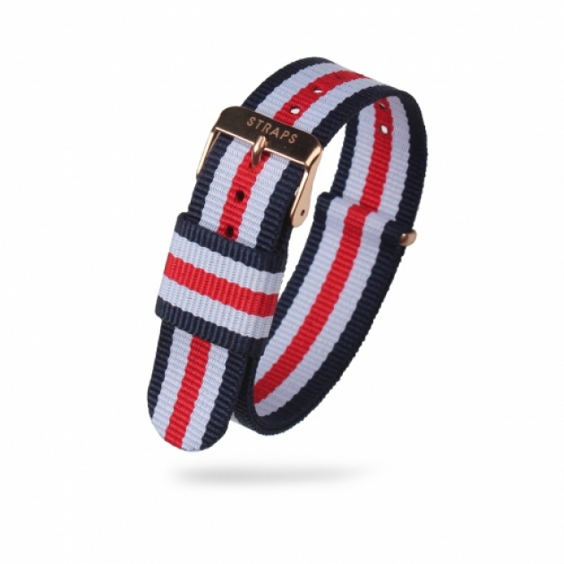STRAPS 스트랩스 / <br>클래식 나토 - Navy/White/Red/White/Navy