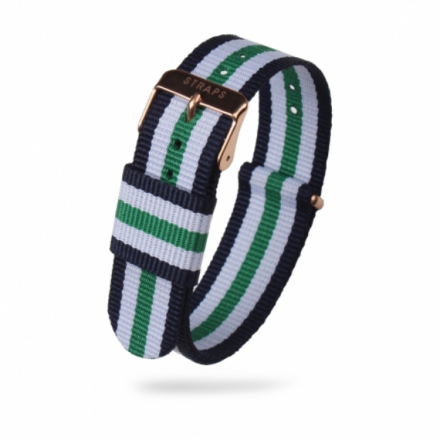 STRAPS 스트랩스 / <br>클래식 나토 - Navy/White/Green/White/Navy