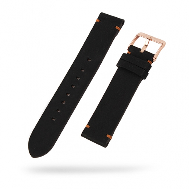 [STRAPS]<br>Leather Band Black