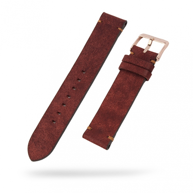 [STRAPS]<br>Leather Band Brick Red