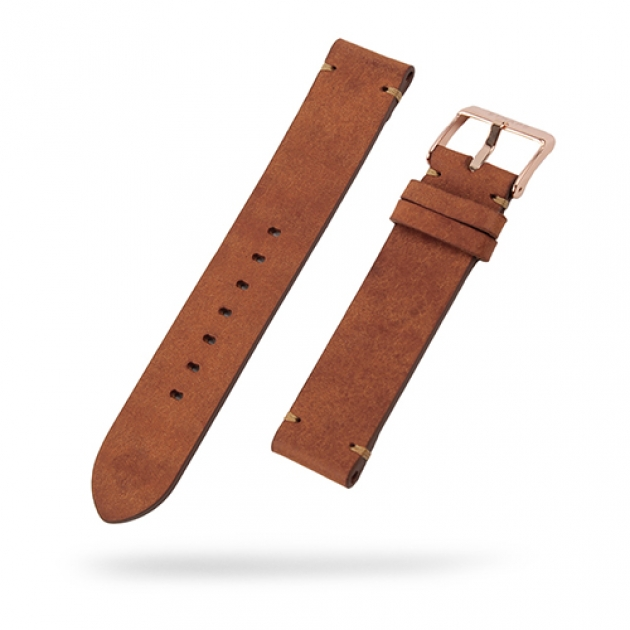 [STRAPS]<br>Leather Band Tan