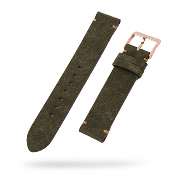 [STRAPS]<br>Leather Band Moss Green
